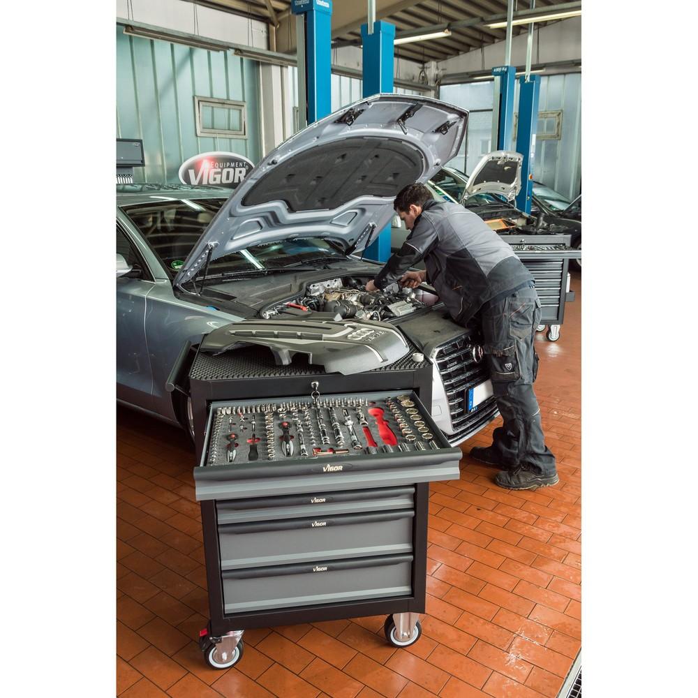 Werkzeugwagen VIGOR® 500N, 7 Schubladen, leer