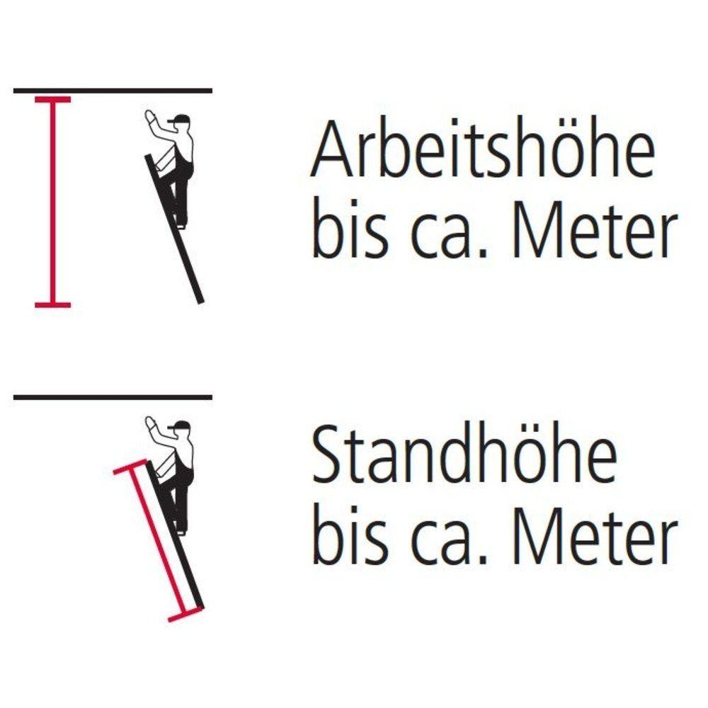 Stufen-Anlegeleiter KRAUSE® mit Abrutsch-/Anlegeschutz