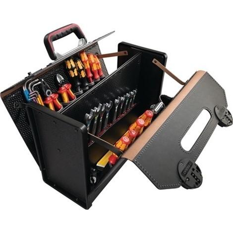 Werkzeugtasche aus Rindleder, 24 Liter