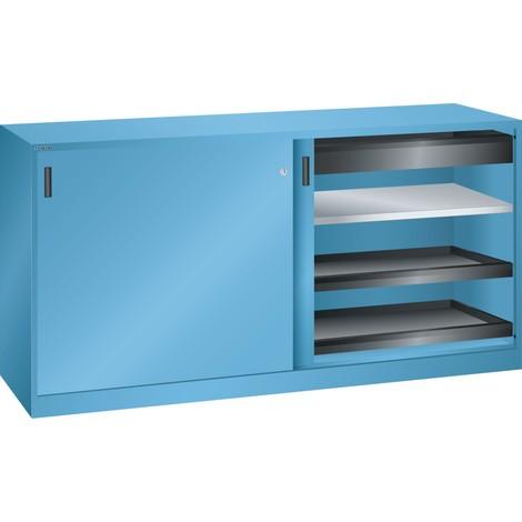 LISTA Werkzeugschrank, (BxTxH) 2000x580x1000mm, 4 Auszüge, 2 Schubladen