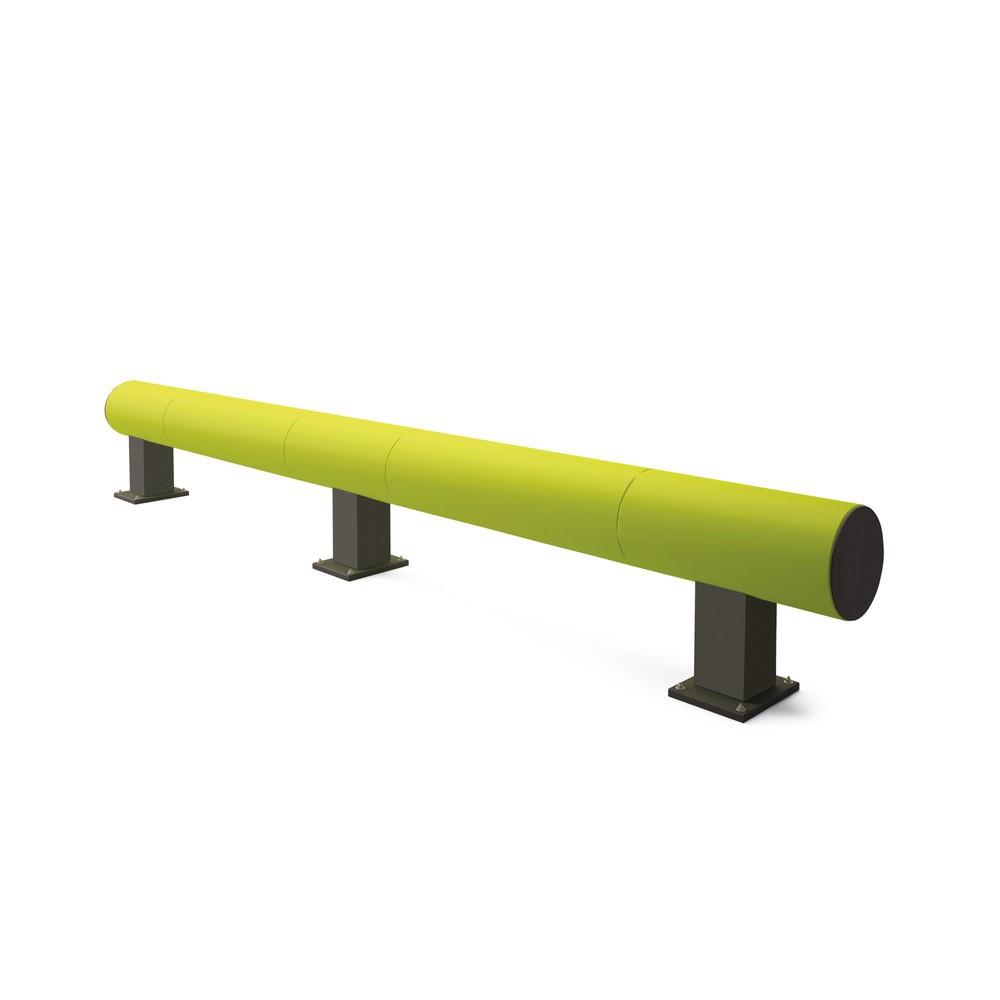Rammschutz-Barriere aus Kunststoff, fluoreszierend
