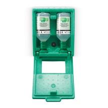 Augenspülstation plum in staubdichter Wandbox mit Spiegel