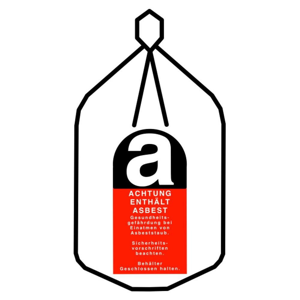 Transportsack Asbest, mit Kordel und Verschlussband