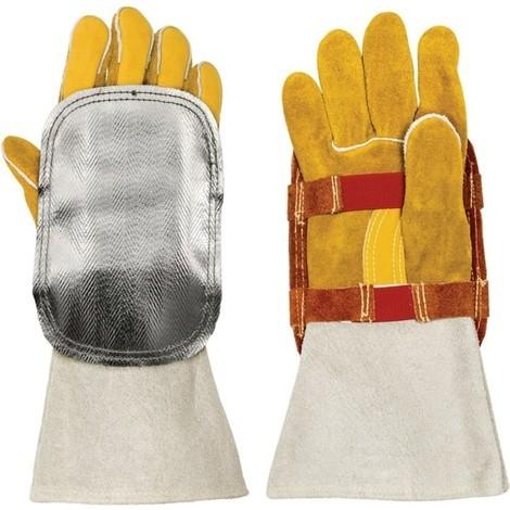 WELDAS Handschutz, Rindspaltleder mit Glasfaser
