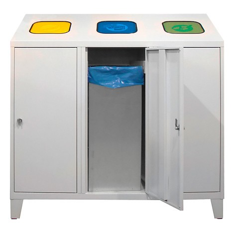 Recycling-Abfallsammler Trio